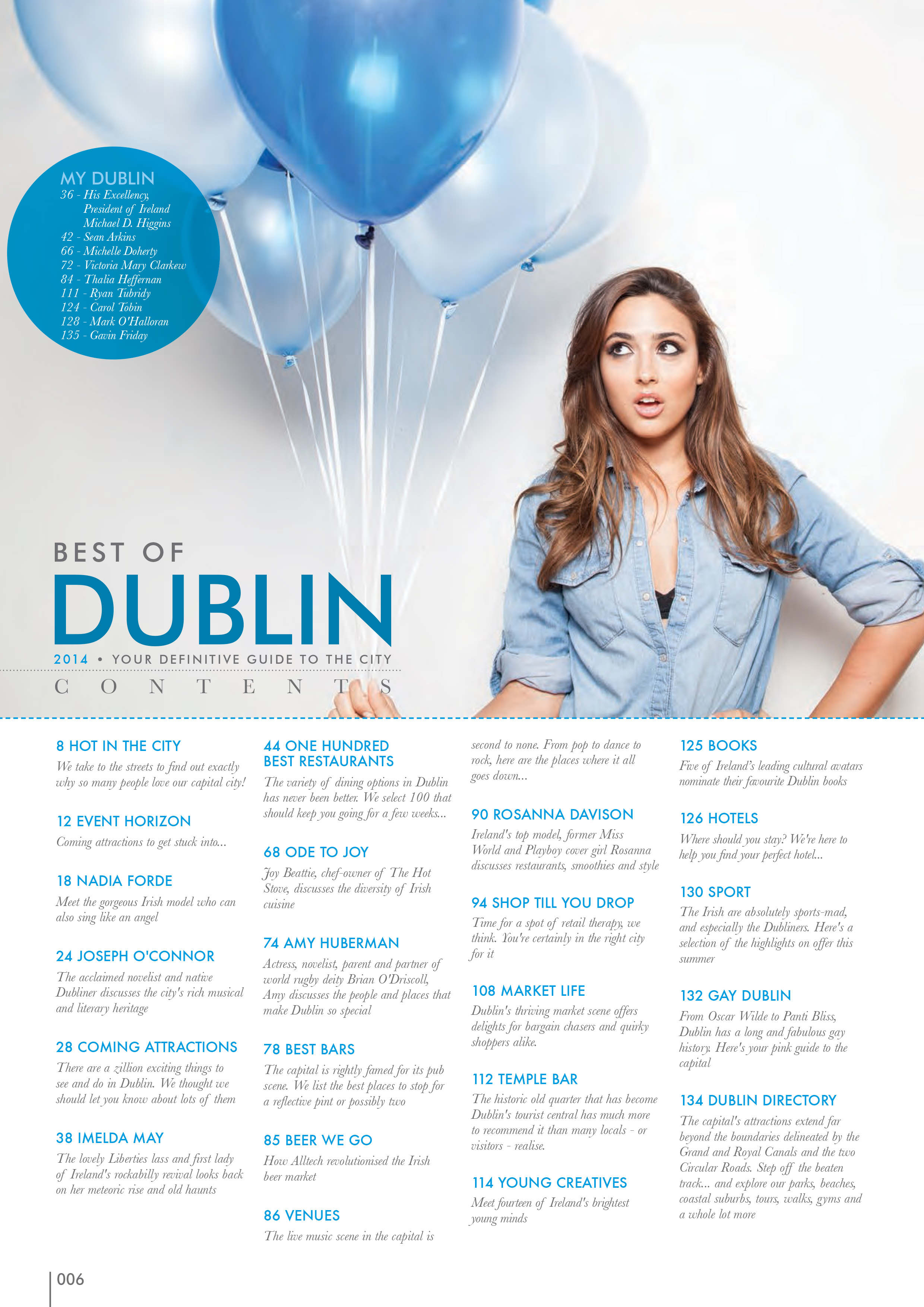 Nadia Forde , photographed for  Best of Dublin   Magazine.