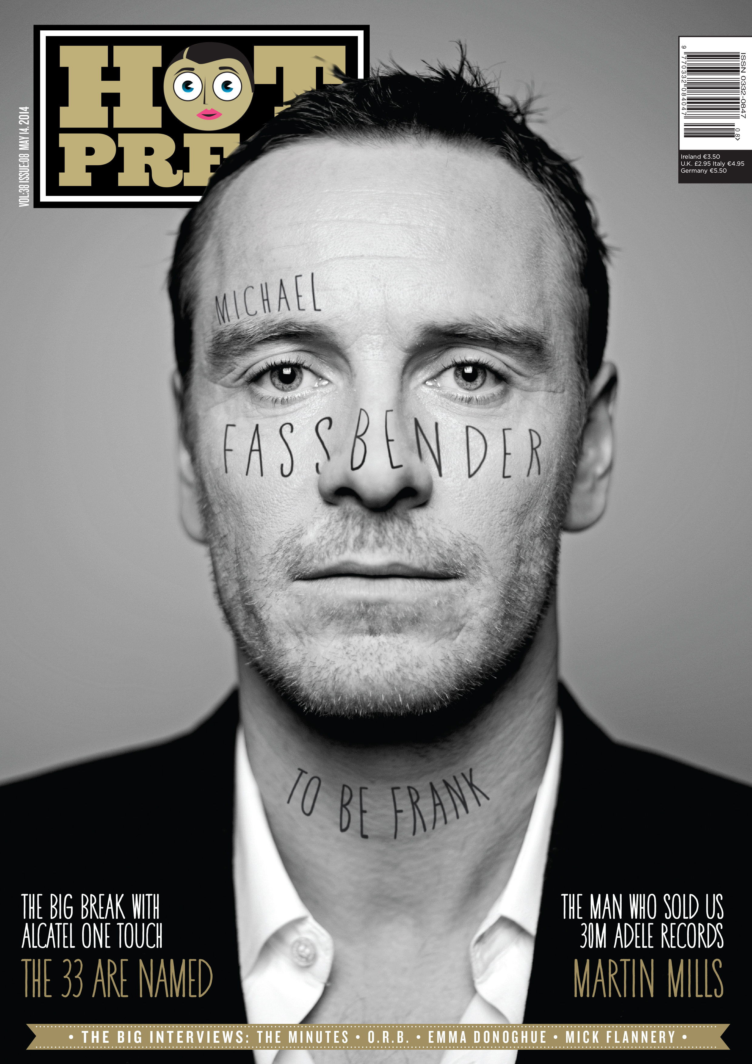 Michael Fassbender  , photographed exclusively for the cover of   Hot Press   Magazine.