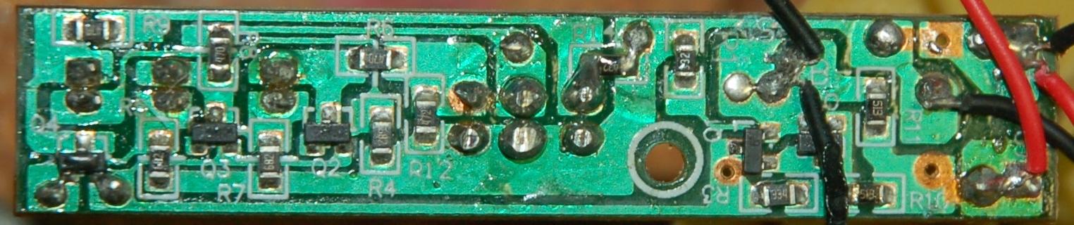 Bottom side of PCB