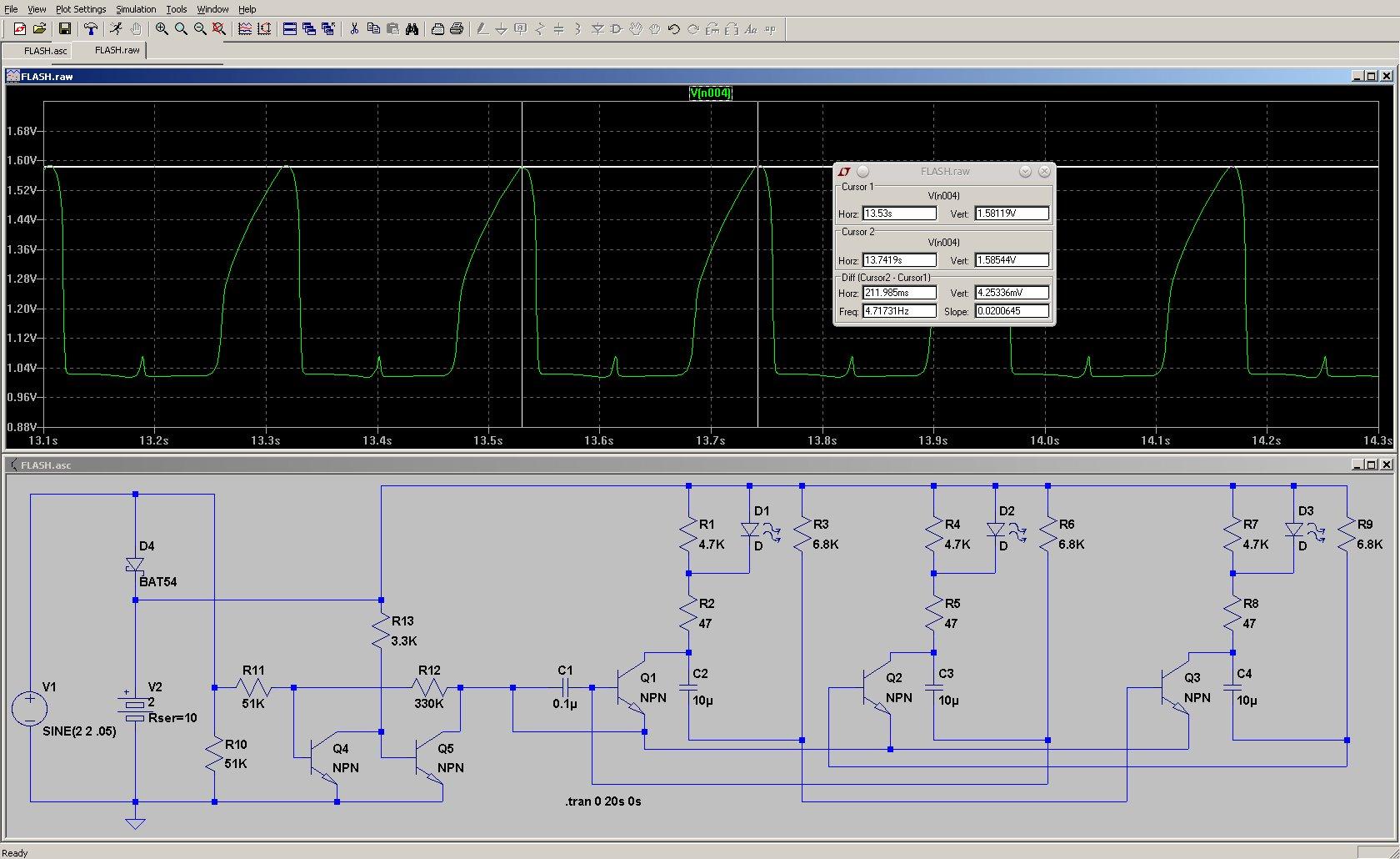 Simulation of LED Cathode Voltage