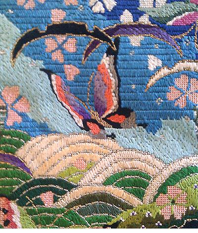 Needlepoint detail by Shana