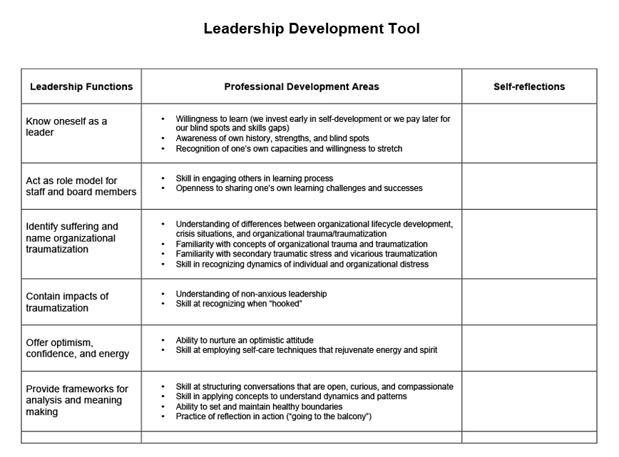 example of blank leadership development tool