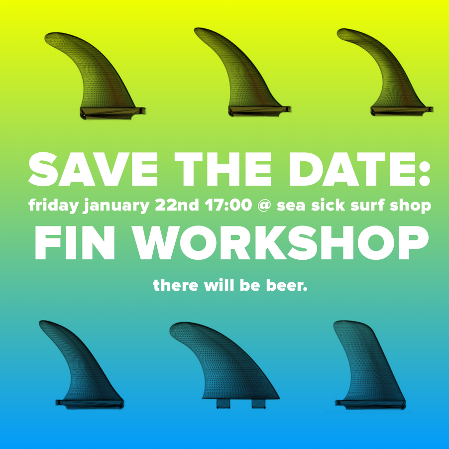 fin workshop at seasicksurfshop