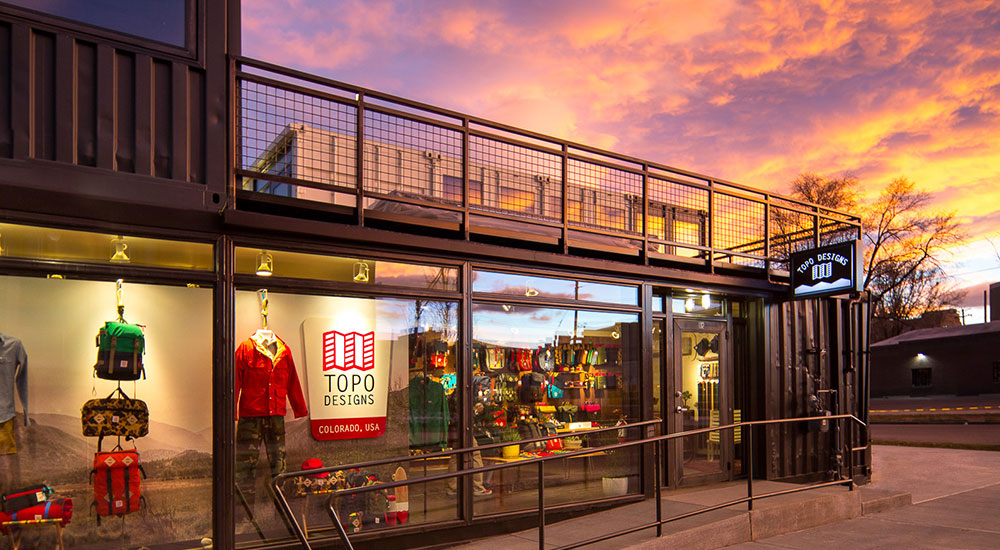 The beautiful Topo Design flagship store in Colorado.
