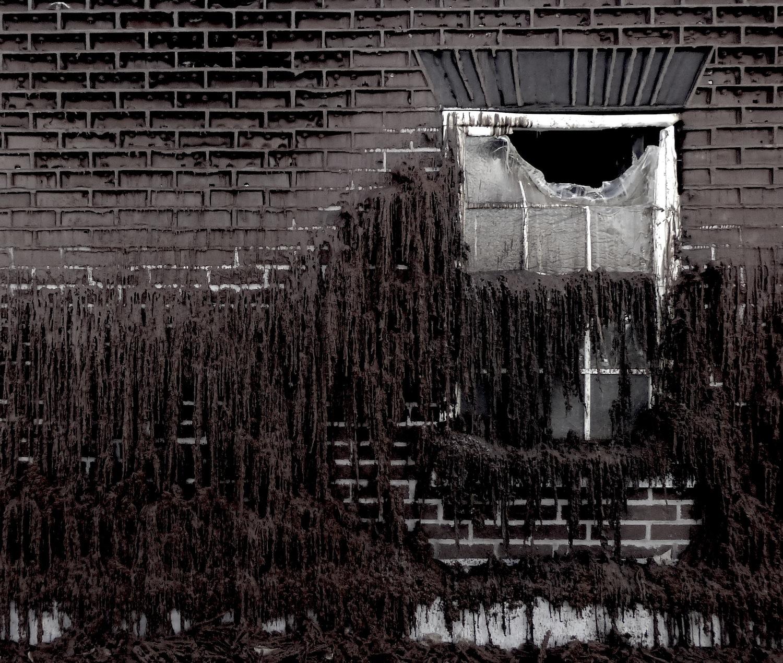 Melting bricks and window- photo by Angie Dixon- Illuminate Productions