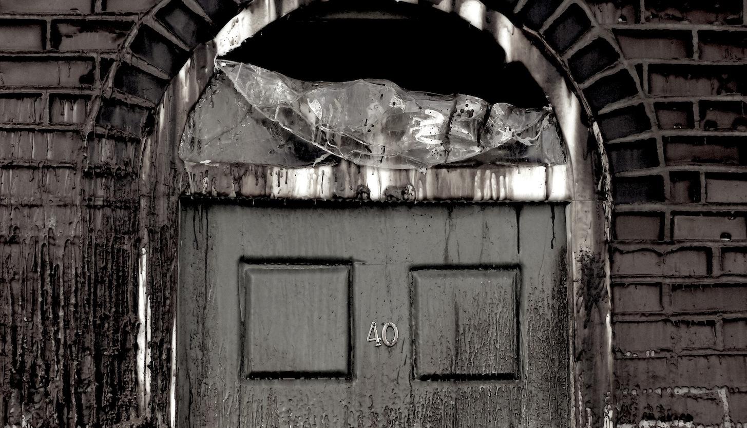 Wax door melting november 6th 2014 by Angie Dixon- Illuminate Productions