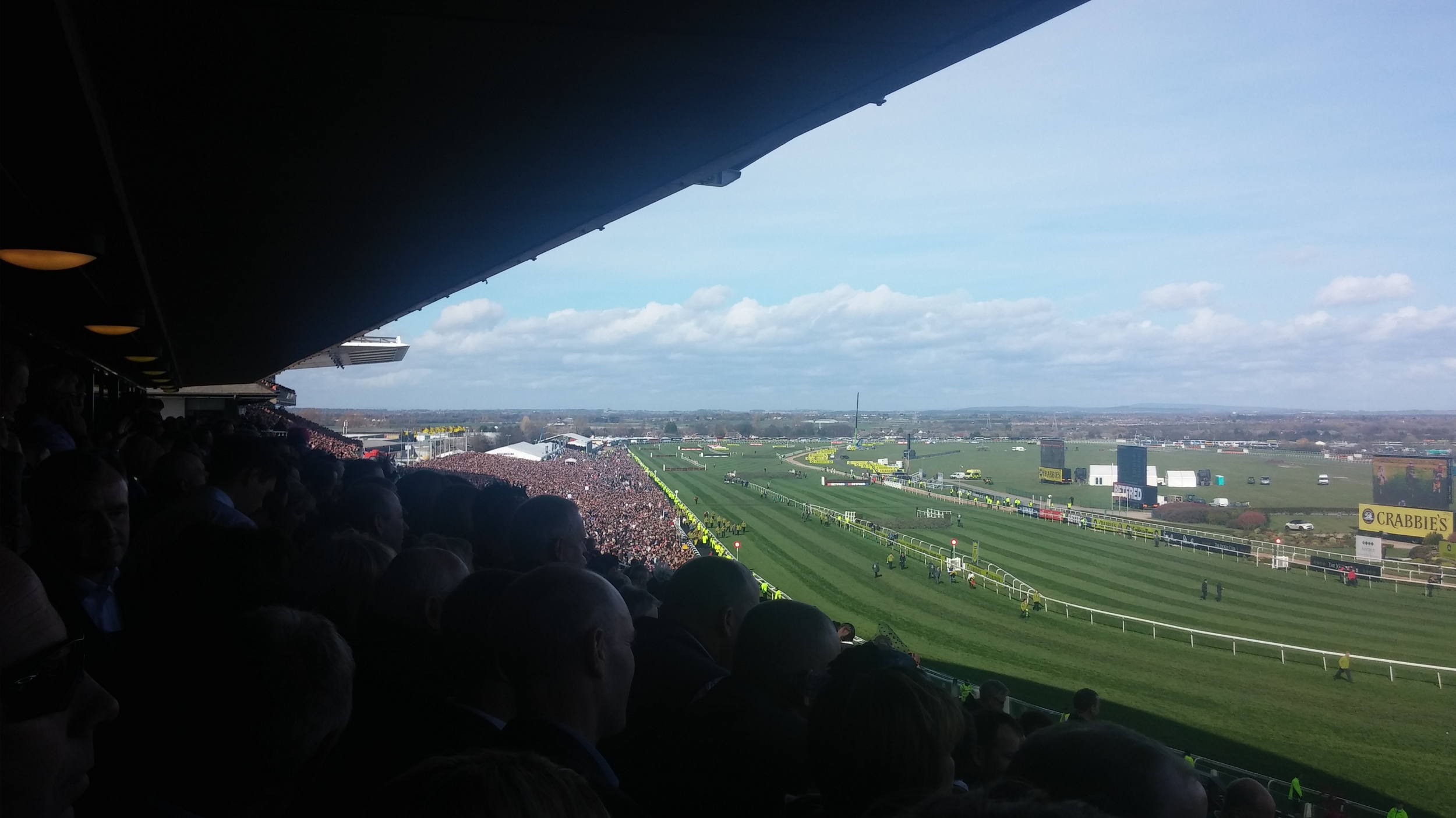 Even when I was poached to work at the Grand National I got a pretty good view