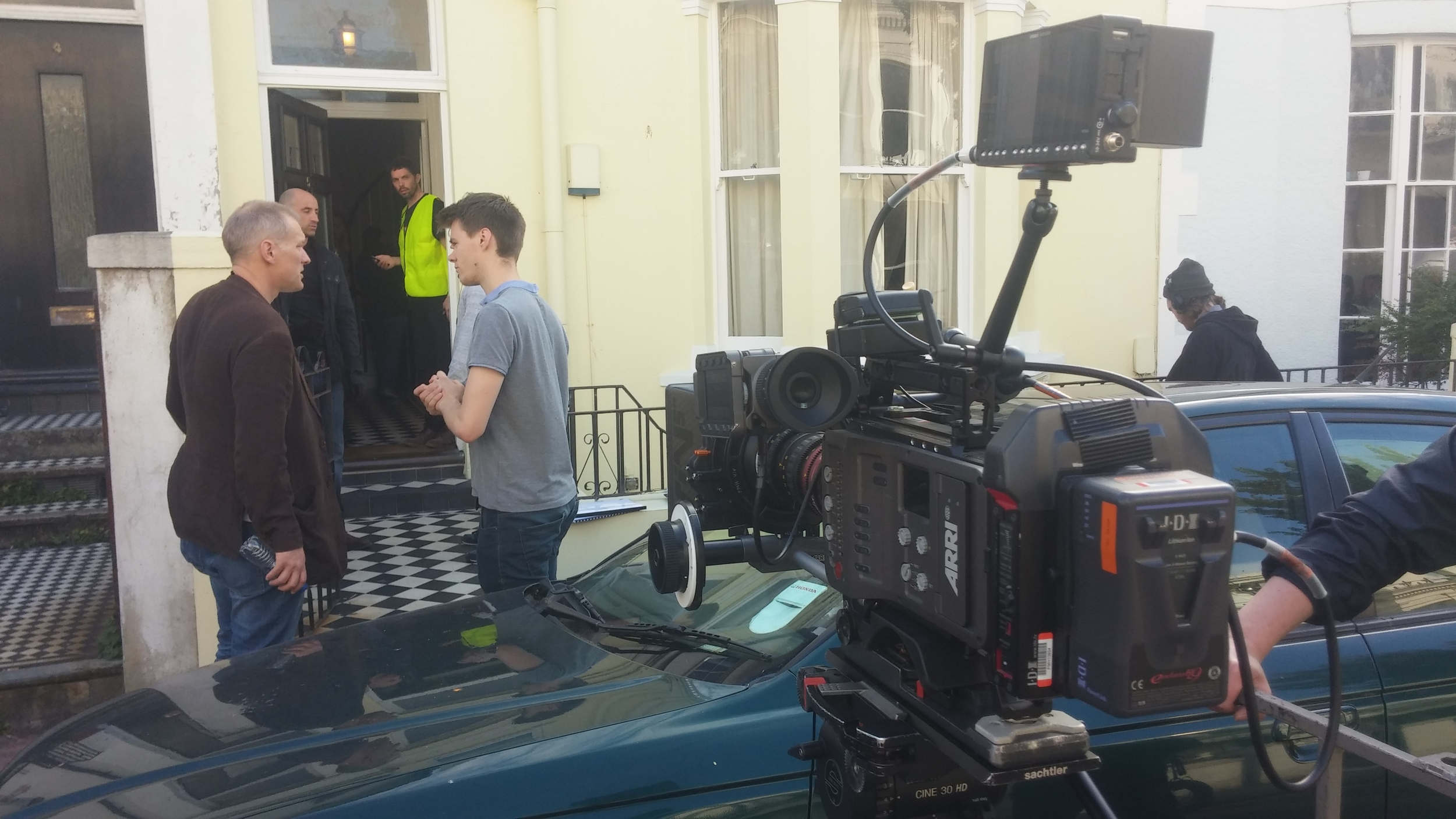 On set recently for 3 weeks of intensive indie film making for The Holly Kane Experiment.