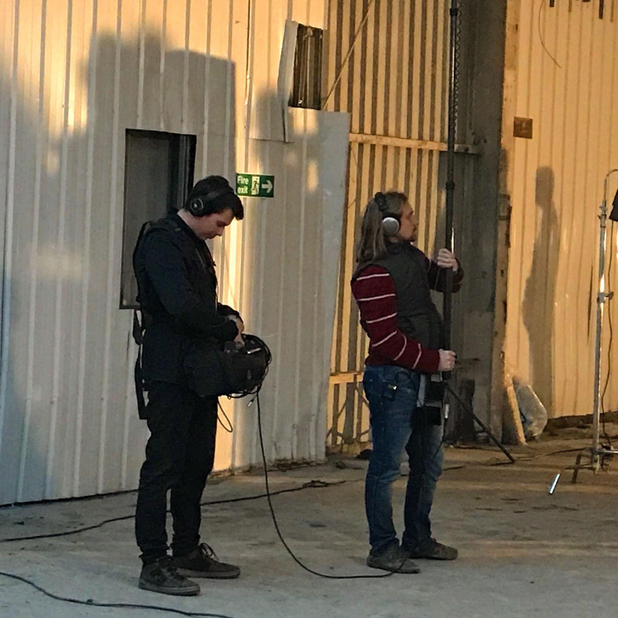 Phil Hutchins on set.jpg