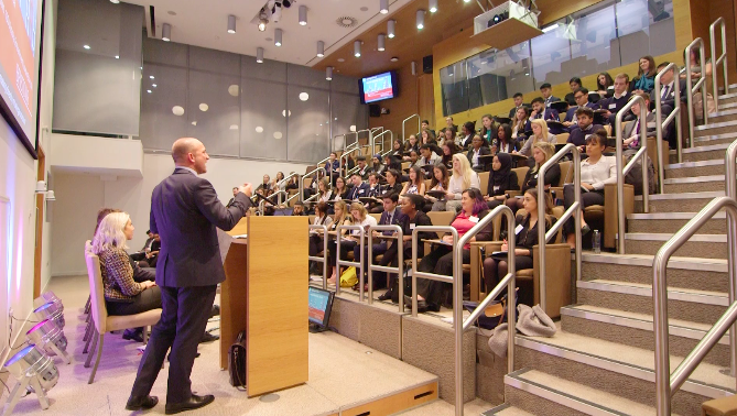 AS founder Chris White speaking at the 2018 Social Mobility event.