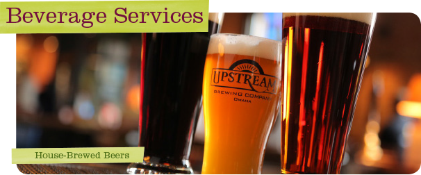 Upstream Catering House Brewed Beers