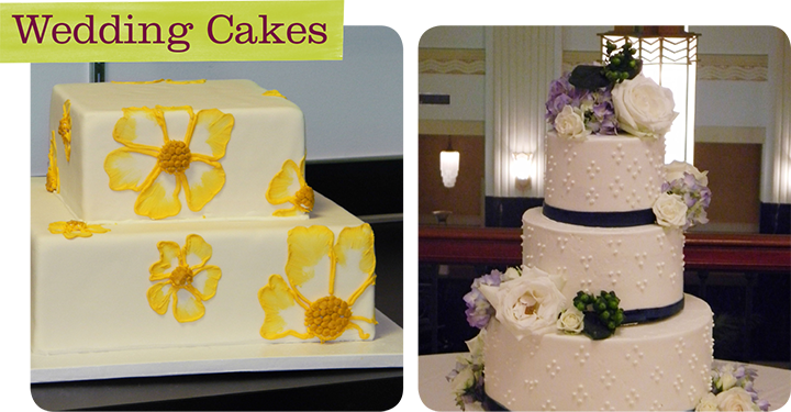 Upstream Catering Wedding Cake with Fondant