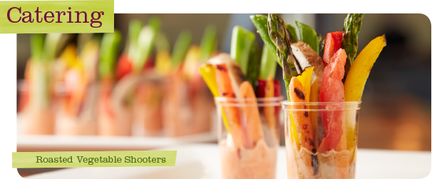 Upstream Catering Roasted Vegetable Shooters