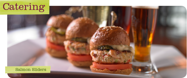 Upstream Catering Salmon Sliders
