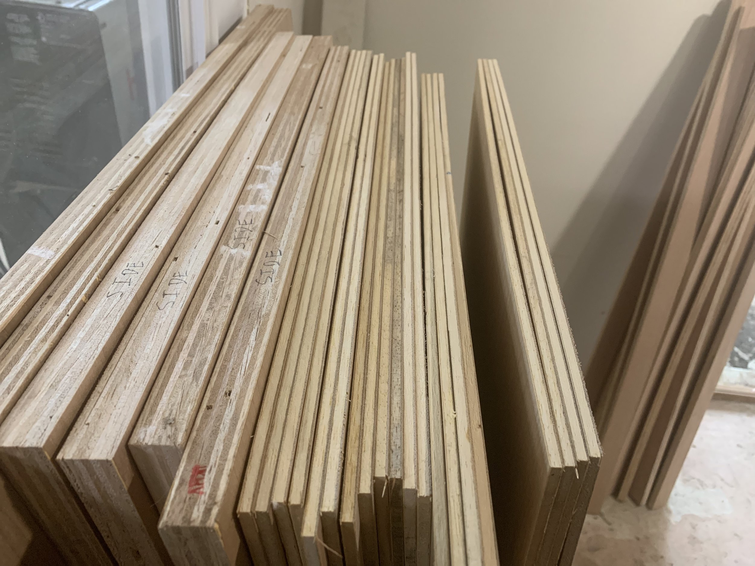 Here is the result of the custom jig: All of the wood is cut exactly to the correct lengths.