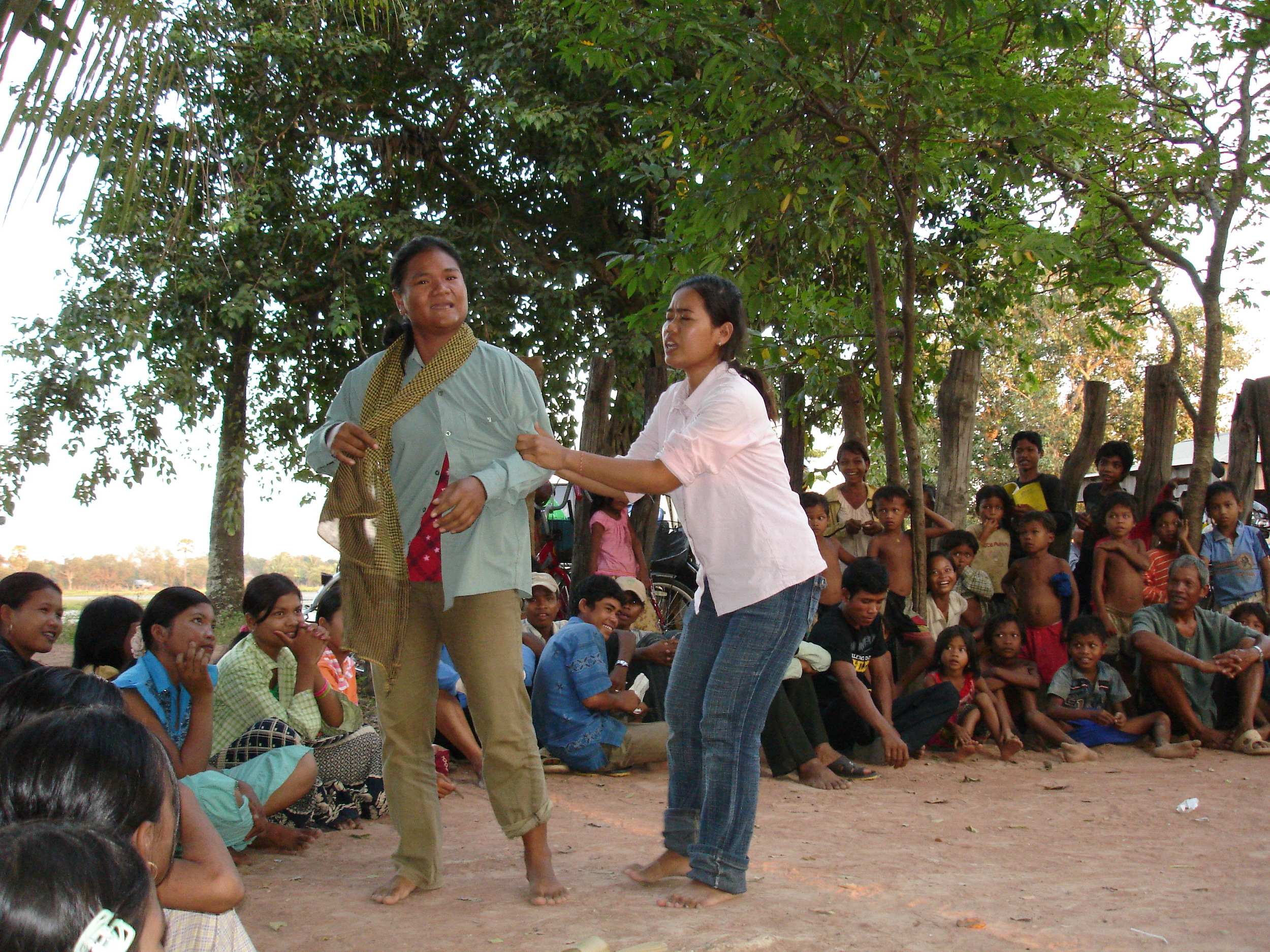 Forum theatre domestic violence play, Uddar Meanchey, Cambodia