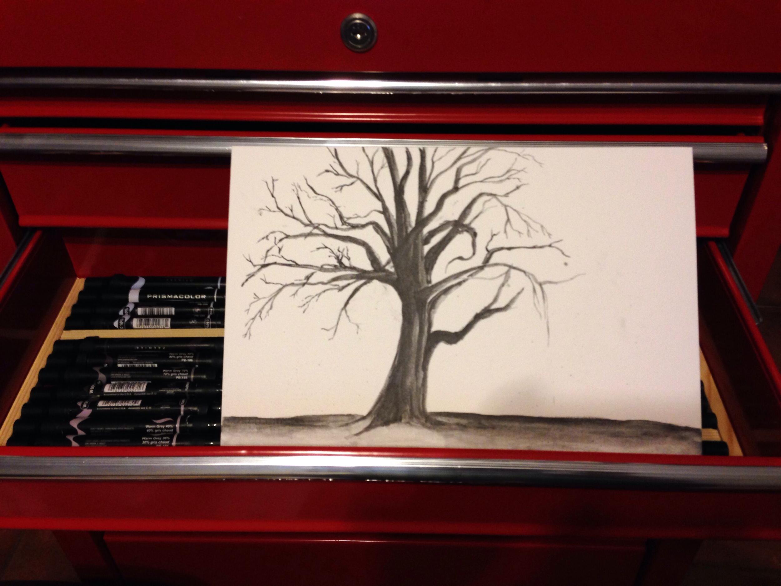 ArtGraf watercolor graphite in progress