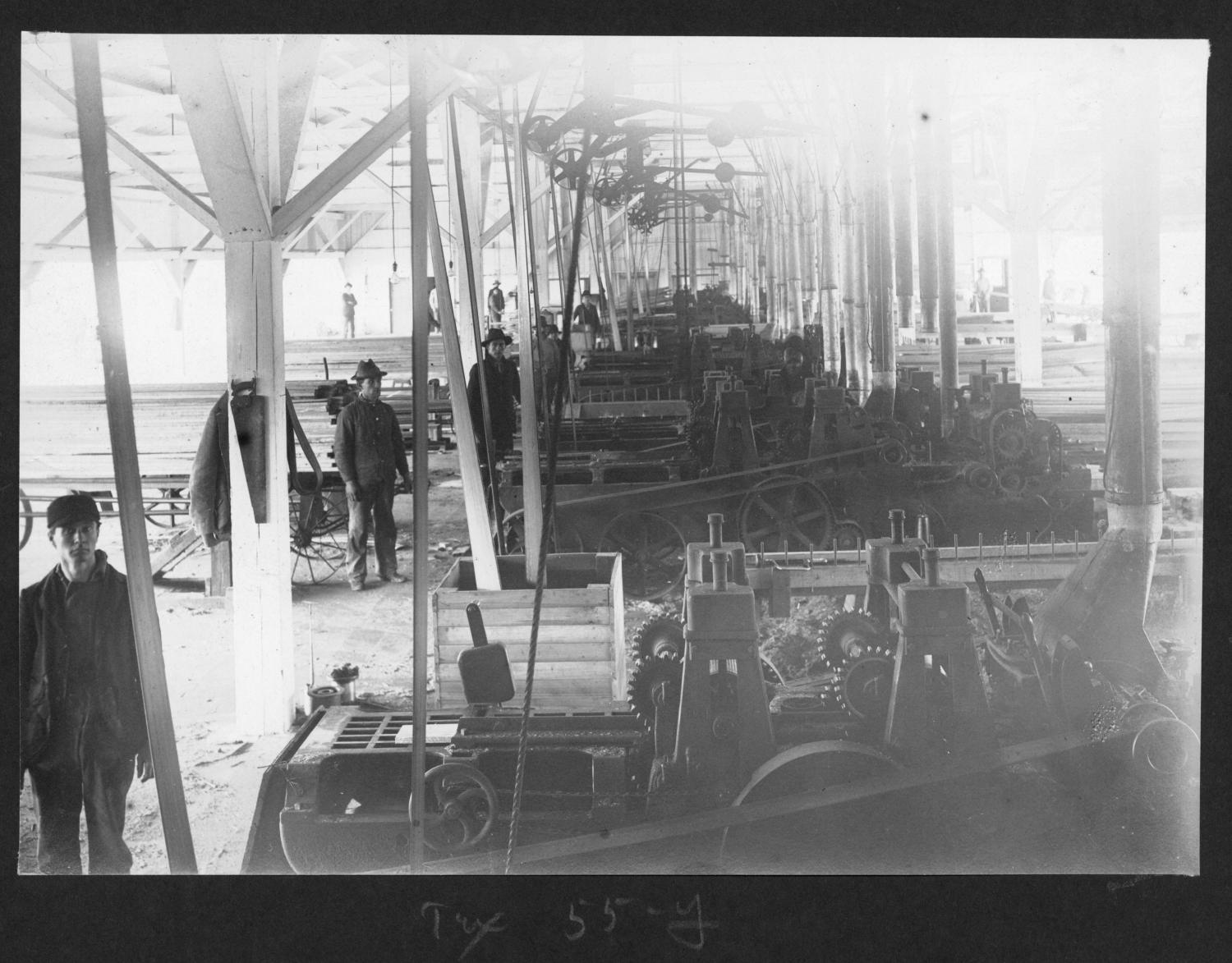 Tex55 Planing Mill Machines and Mill Workers