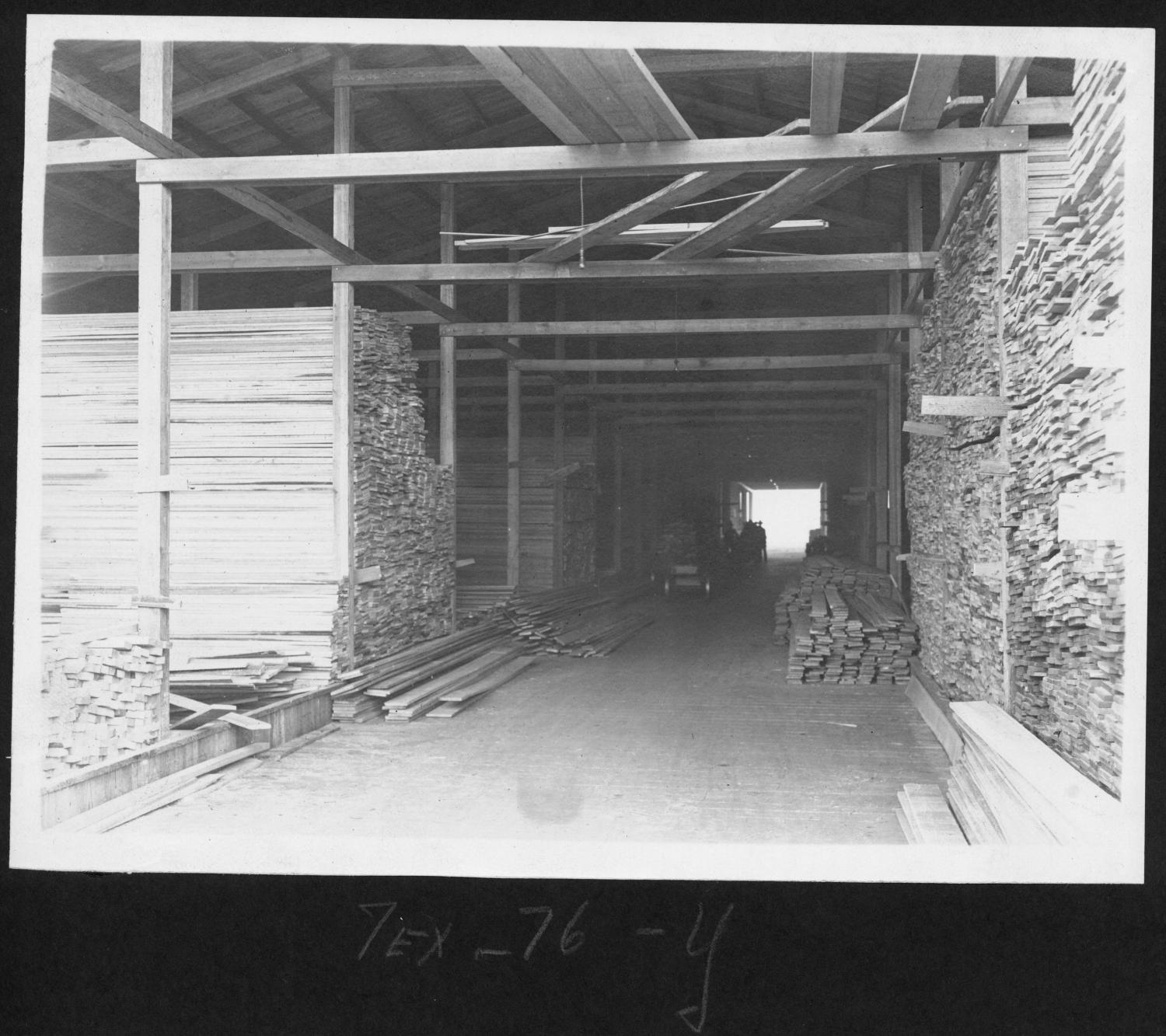 Tex76 Interior of Dressed Lumber Shed