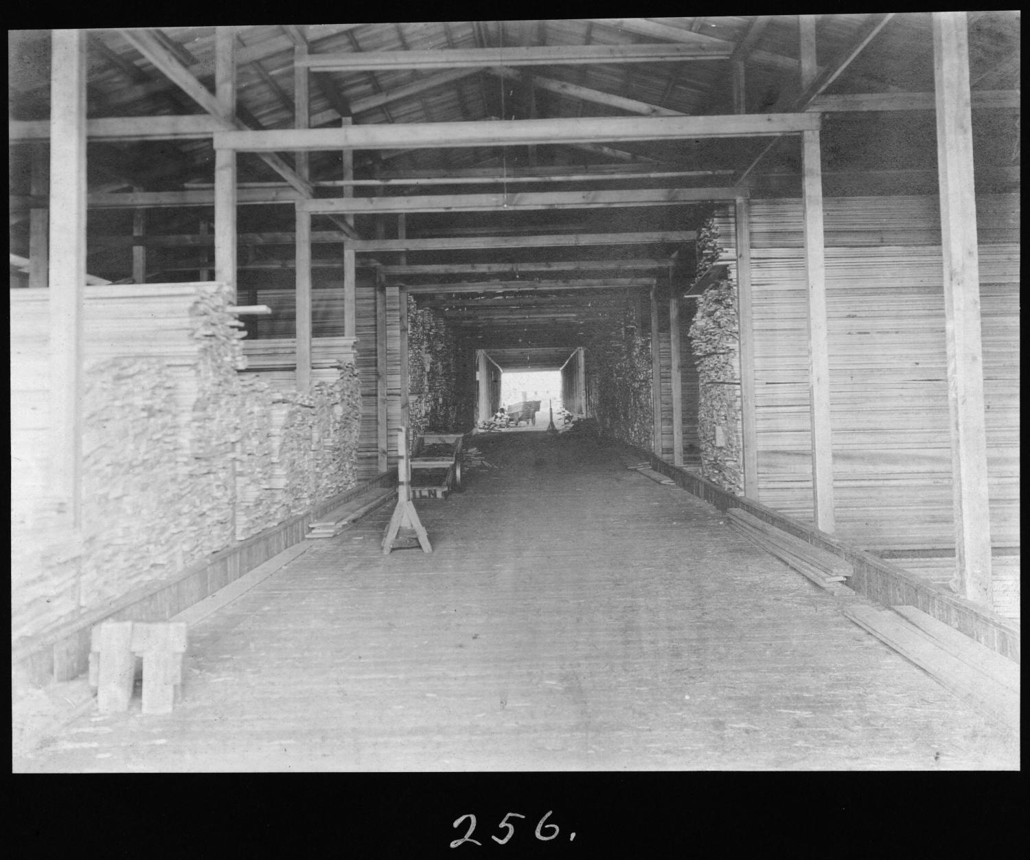 S. P. 256 Rough Lumber Shed Interior