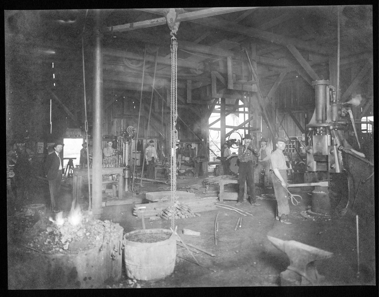 S.P. 266 interior of machinery and repair shop