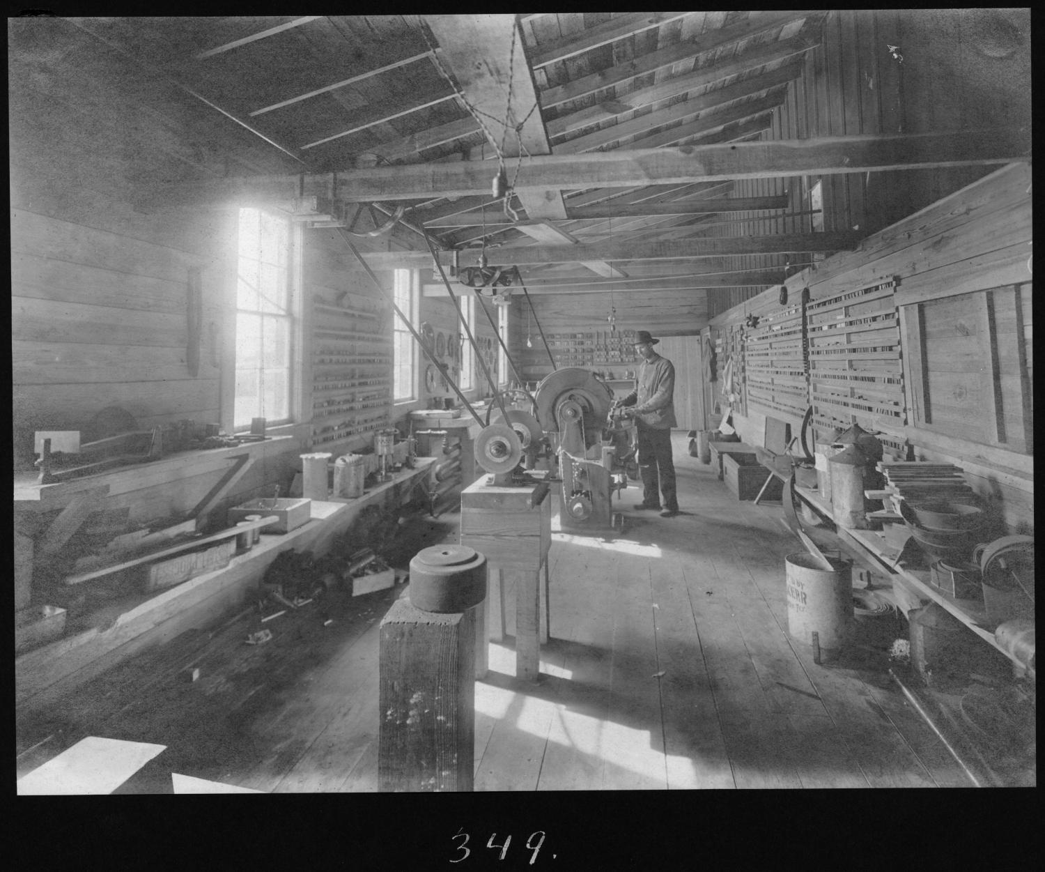 S. P. 349 Planing Mill Filing Room