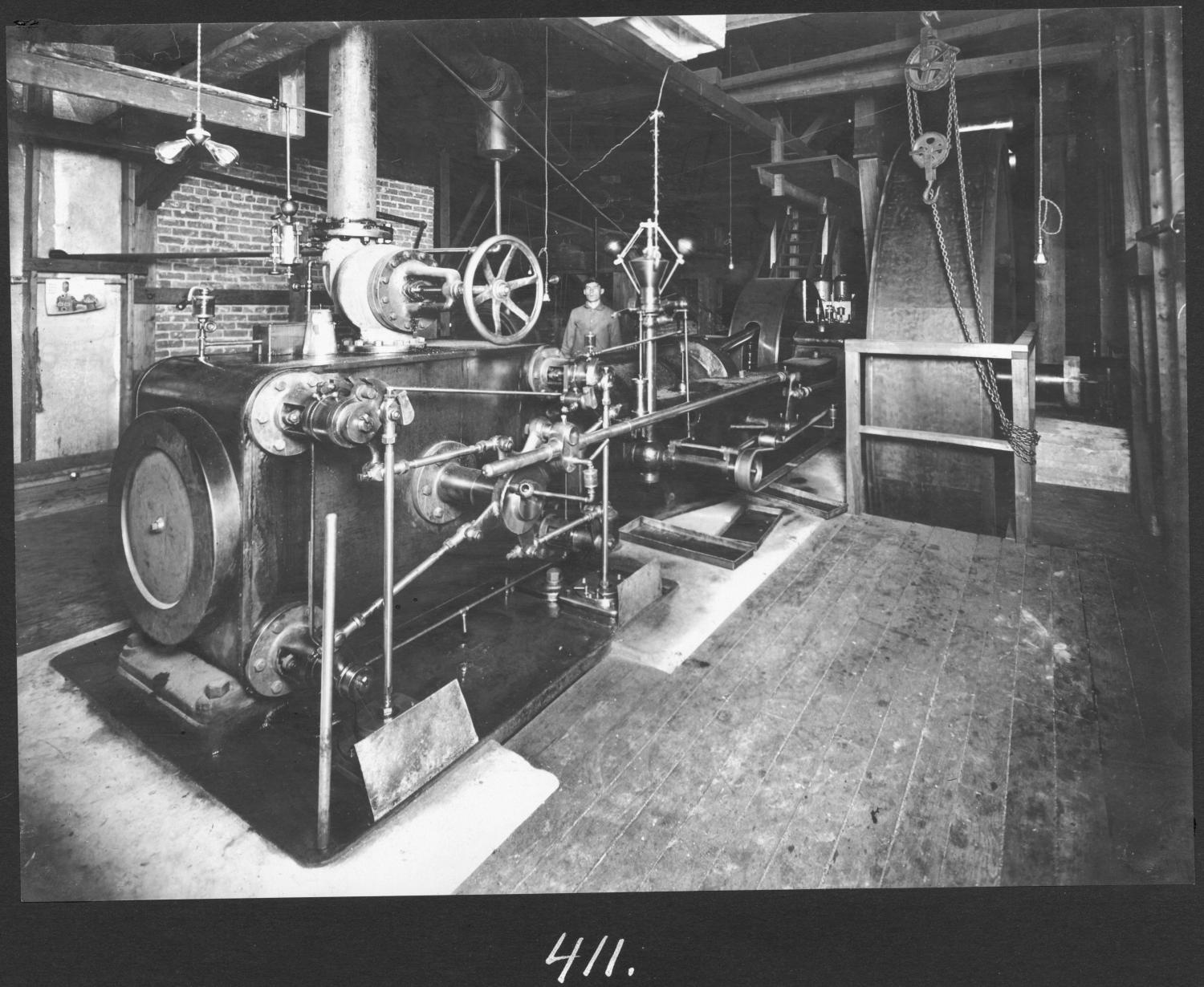 S. P. 411 Planing Mill Engine Room