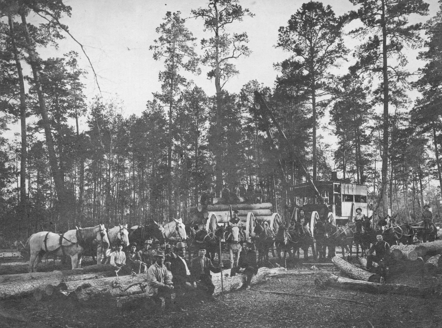 S.P. 321 logging crew of Camp No 2 1907