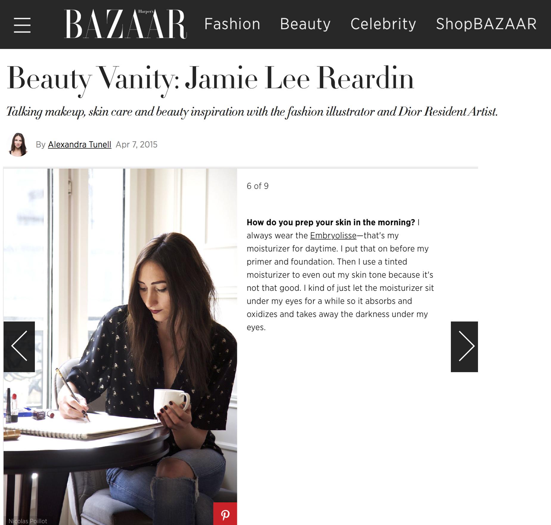 Harper's Bazaar Beauty Vanity