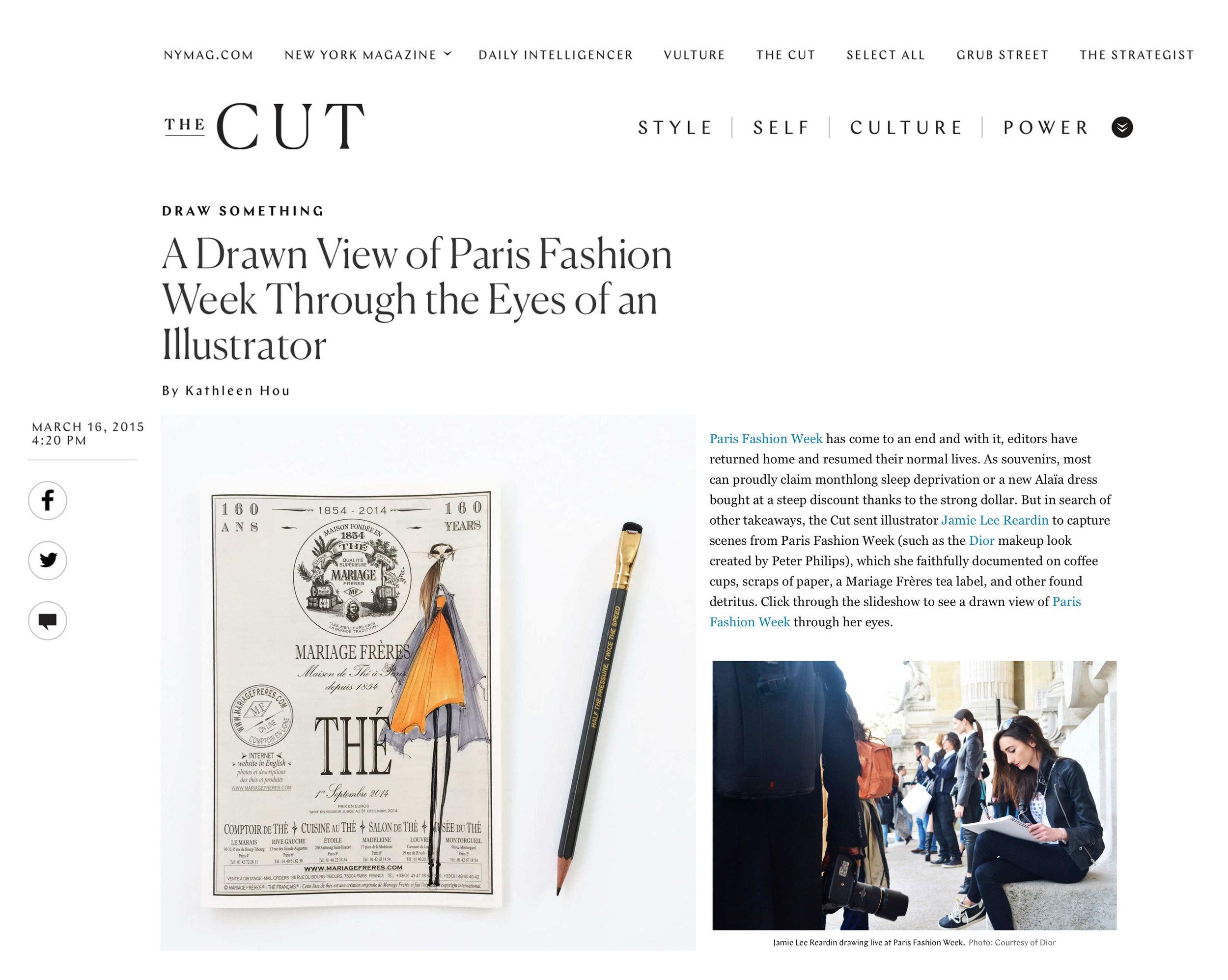 The Cut, A Drawn View of Paris Fashion Week...
