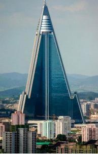 Ryugyong Hotel in North Korea (image from Kalayjian's presentation)
