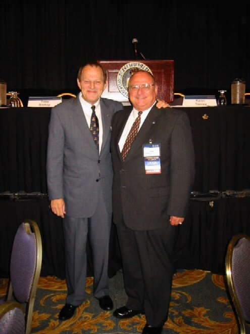 Dervaes pictured with ACFE founder and Chairman Dr. Joseph T. Wells, CFE, CPA.