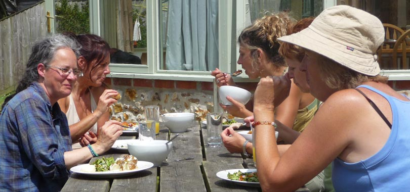Lunch at Bonhays Meditation and Retreats