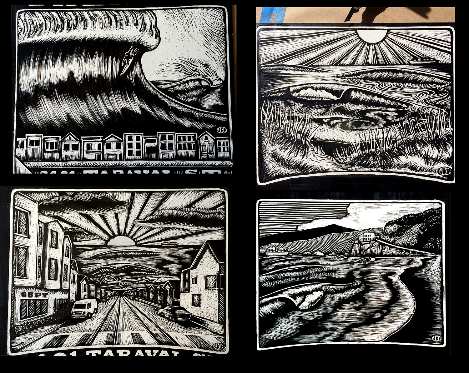 Newly Inked and scratched images for Ocean Beach Physical Therapy...