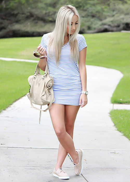 Baby Blue Stripes and Sperrys