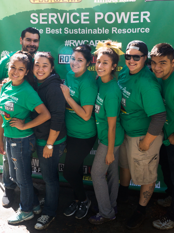 Volunteers from some of our local stores in Southern California.