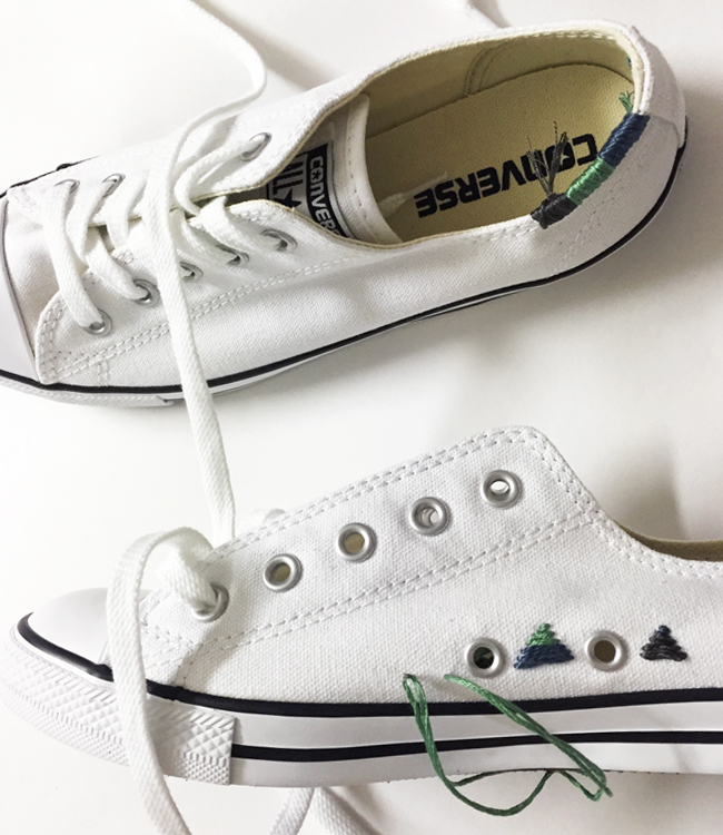 DIY: Converse Embroidery with Blogger