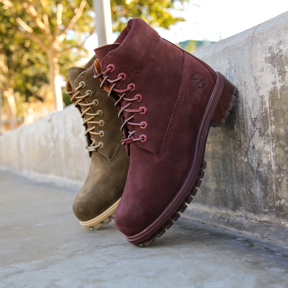 Limited Release:  Timberland 6' Premium Boot  Autumn Leaf in Olive and Port