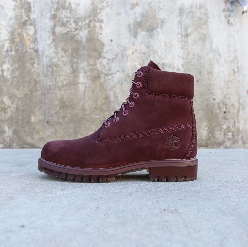 "Timberland 6"" Premium  Silk Suede Autumn Leaf in Port"