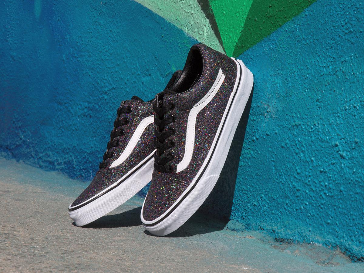 2 - Vans Old Skool in Black Glitter puts a subtle sparkle in your step.