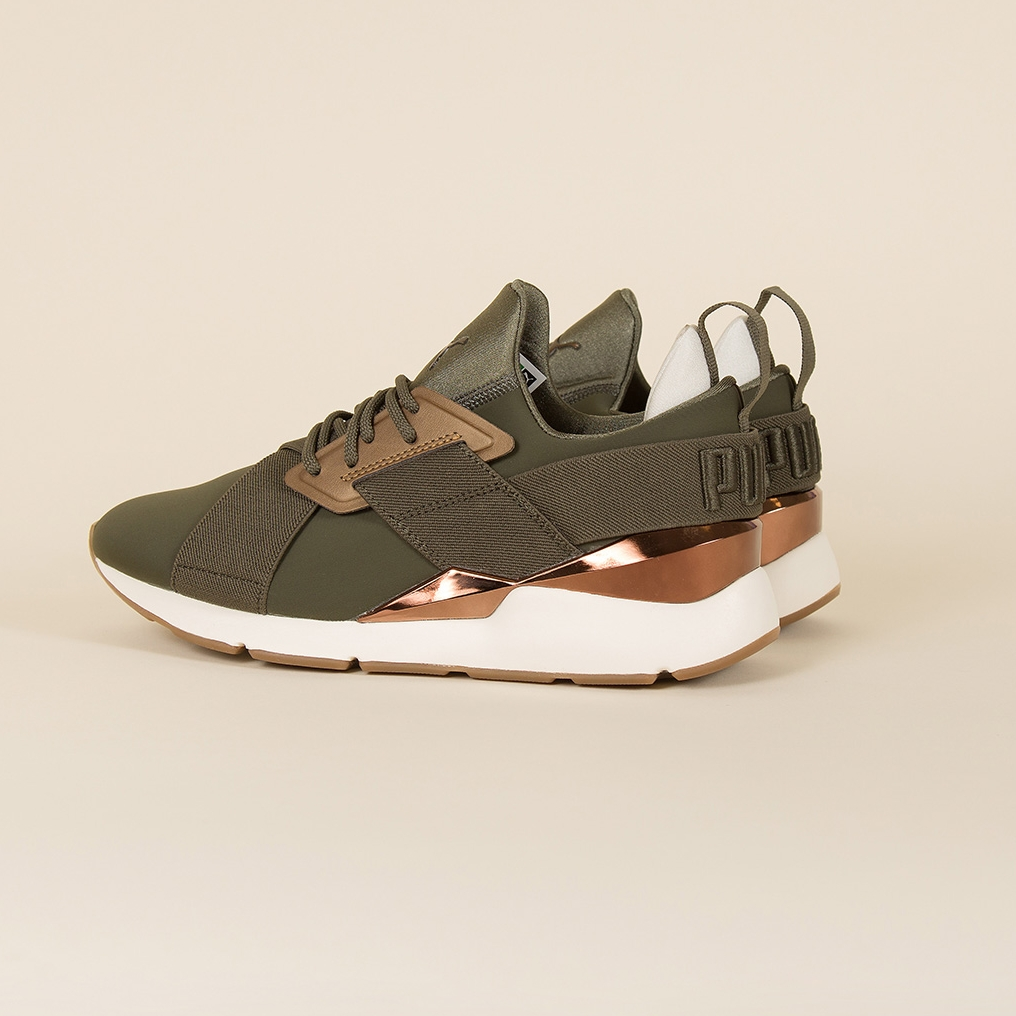 Puma Muse Metal in Forest Night Bronze