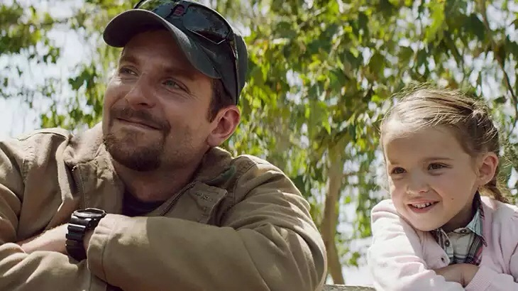 Chris Kyle and his daughter