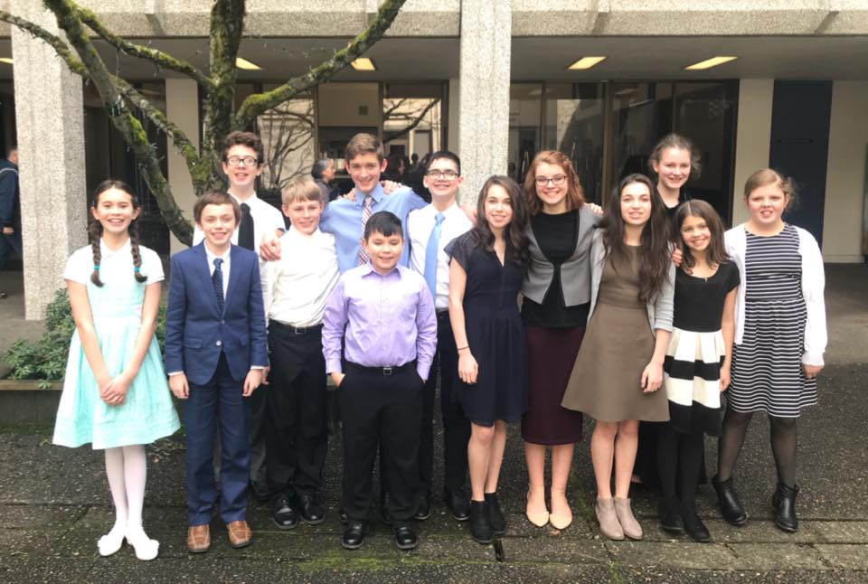 Trinity Academy Speech Club Team Picture