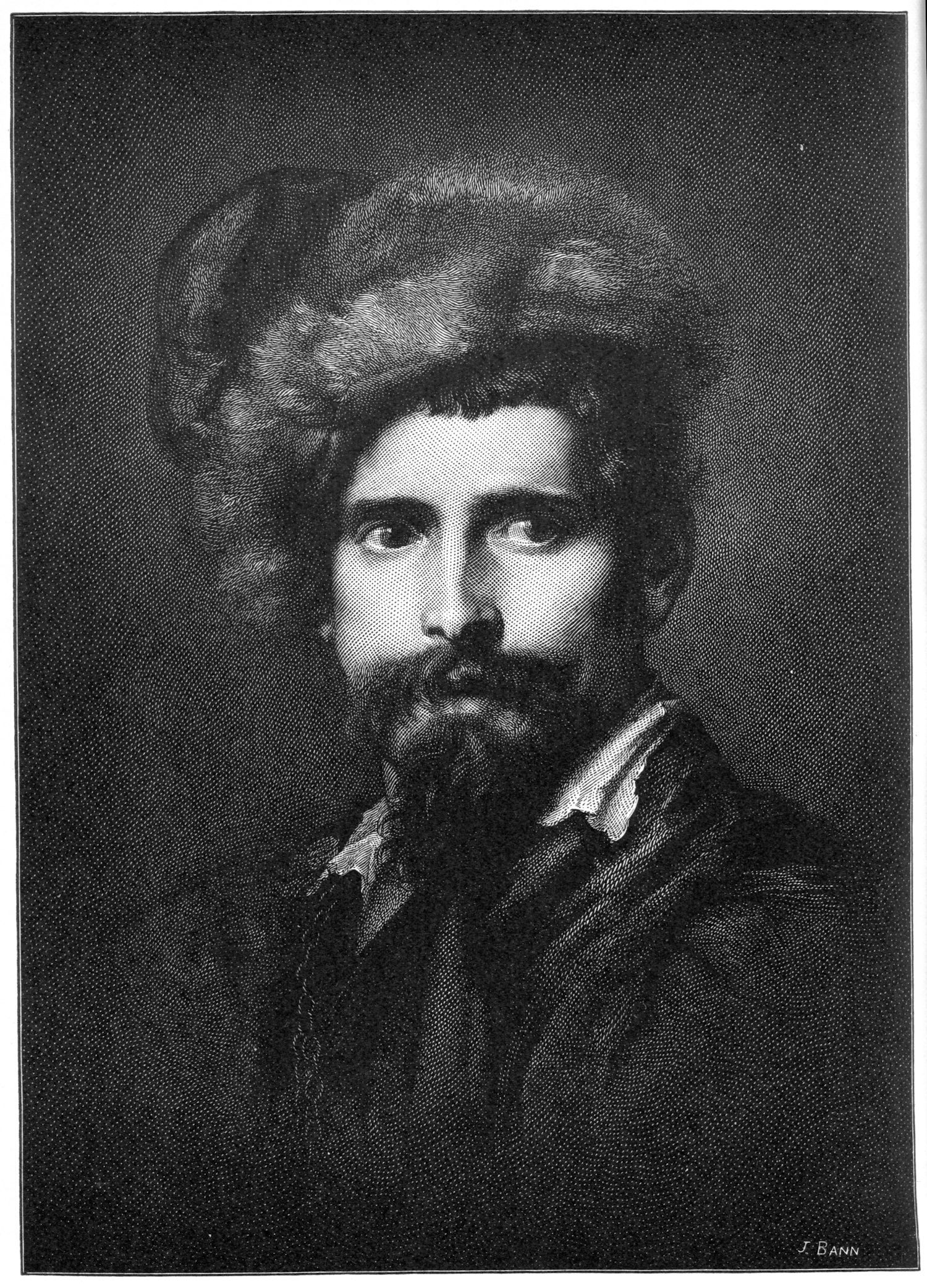 """A Man of Siebenburgen"" (after Van Dyck); published in  The Print Connoisseur,  October, 1928"