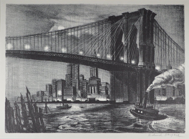 Bergere-Twilight Over Brooklyn Bridge.jpg