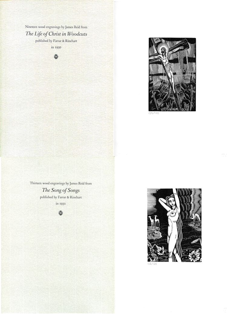 There are 32 engravings in two folders, together with a descriptive booklet in each portfolio.