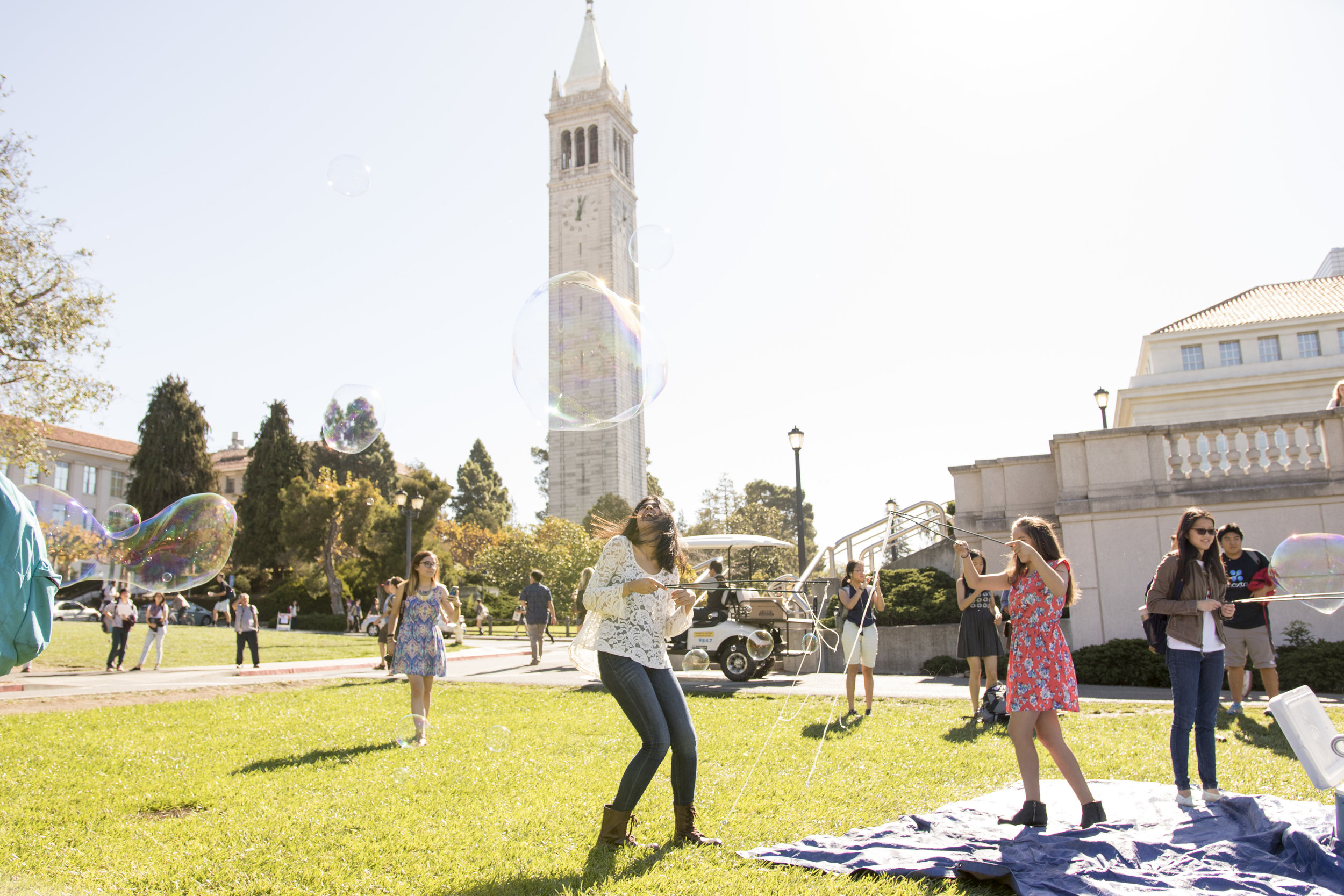Literally, Bubbles : student group event at UC Berkeley