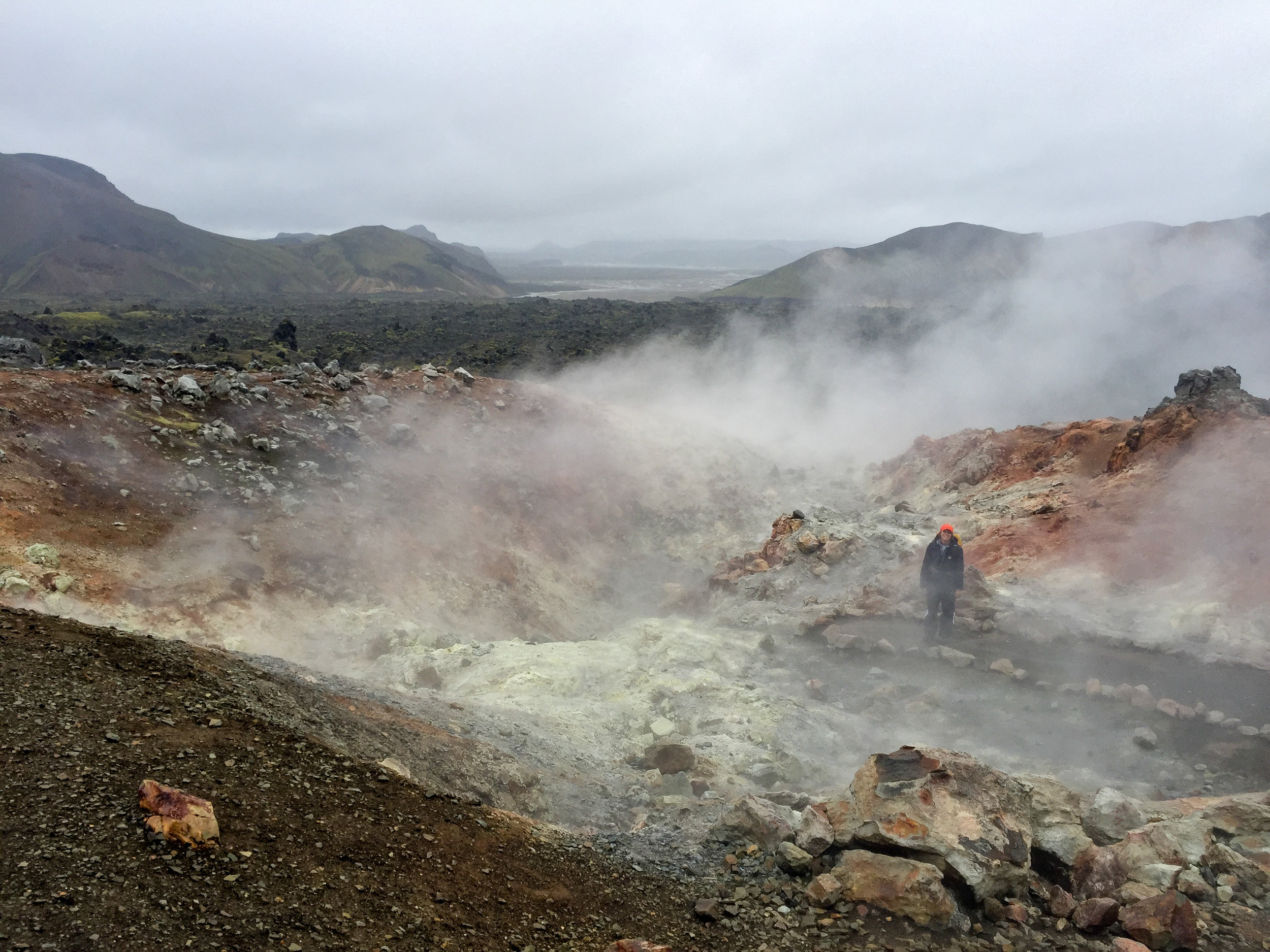 Geothermal area that smells like your grandpa's farts.