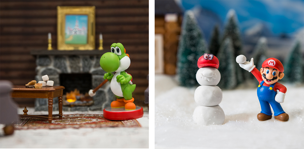 Playful amiibo lifestyle shots for Nintendo of America. Photos are live  here  and  here .