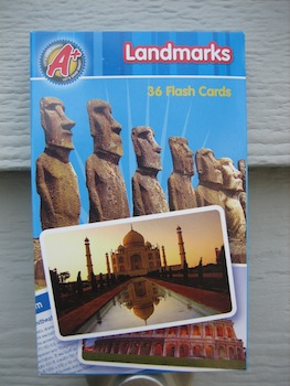 Landmark flashcards, from the Target Dollar Spot